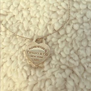 Authentic Tiffany & Co. Heart pendant necklace